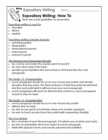 Explanation essay worksheets