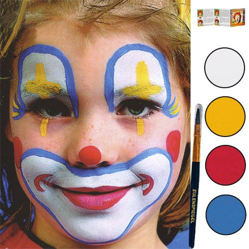 Maquillage grimage carnaval maquillage pour enfants maquillage pinterest clowns - Maquillage de clown facile ...