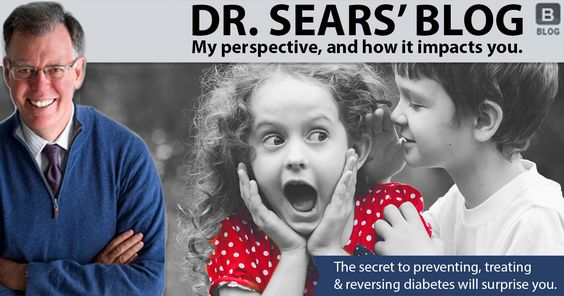 Dr. Sears teaches you how to prevent, treat and reverse Type 2 Diabetes with rediscovered secret by reducing your insulin resistance.