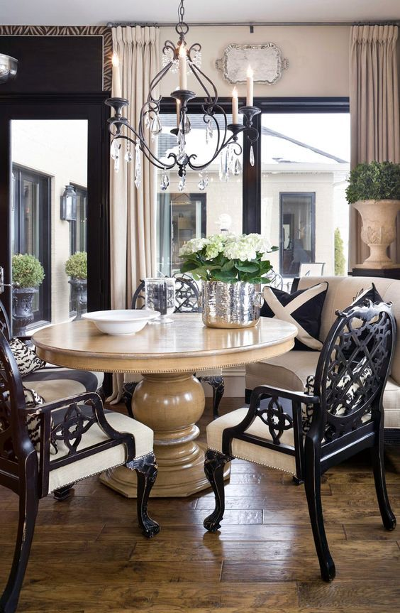 10 Round Dining Tables To Create A Cozy And Modern Decor Elegant Dining Room Round Dining Room Dining Room Design