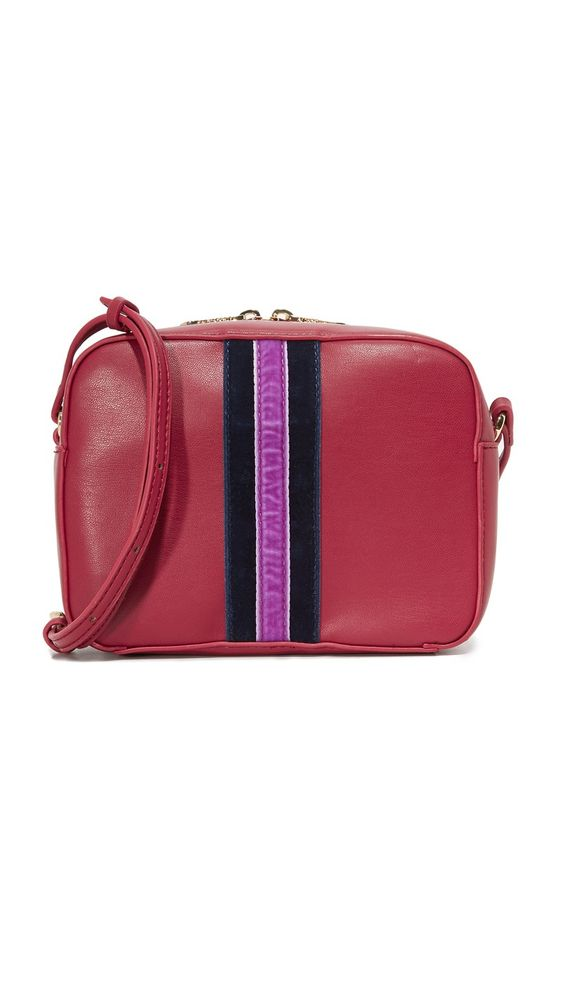 Cynthia Rowley Felix Cross Body Bag in Dark Red