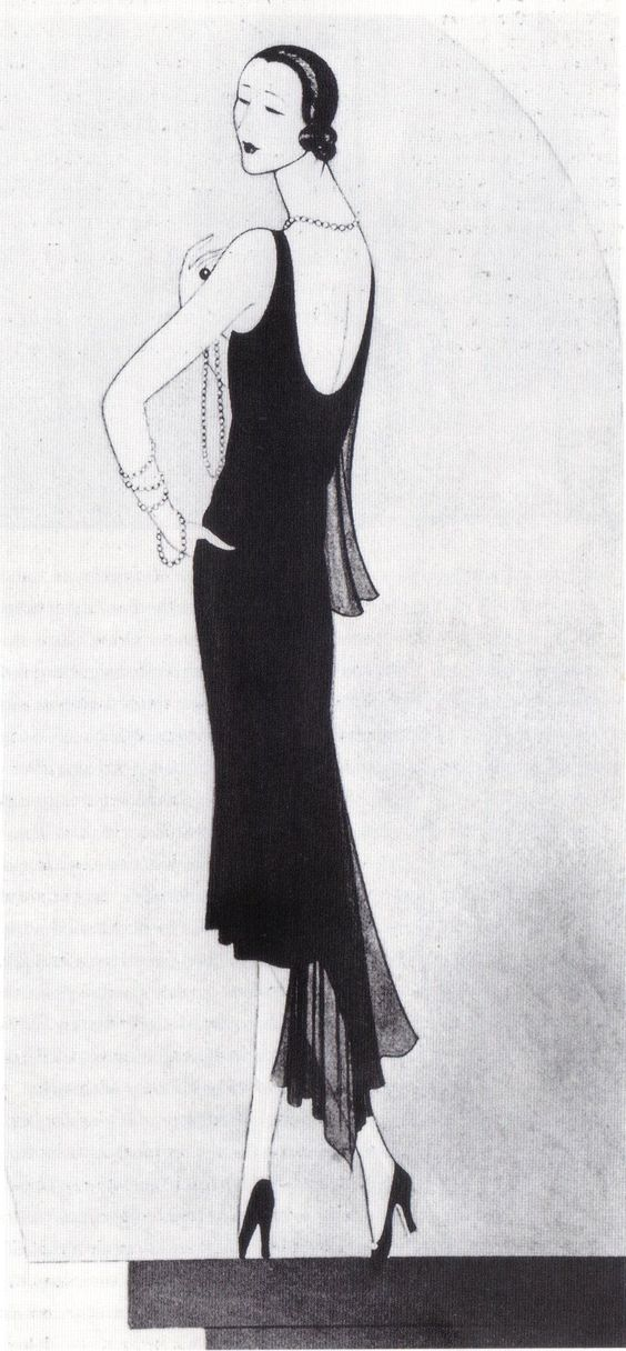 1926 - Chanel black evening gown