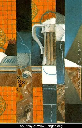 Glass Of Beer And Playing Cards - Juan Gris - www.juangris.org