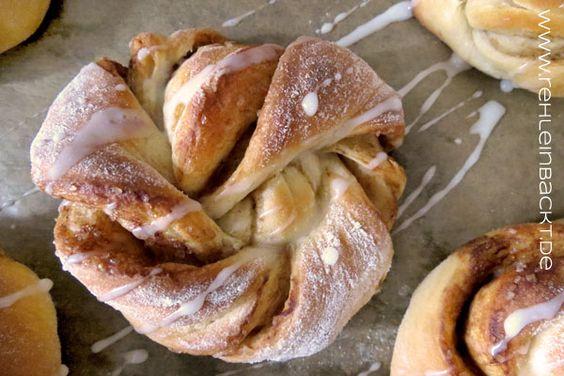 Zimtknoten a.k.a. Norwegische Kanelknuter   Foodblog rehlein backt