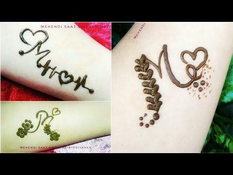 3 Different M Letter Mehndi Design Alphabet Mehendi Tattoo New Alphabet Henna Tattoos Mehndi Designs For Hands Mehndi Designs Feet Mehndi Designs For Fingers