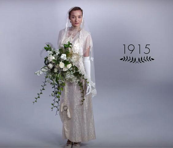 Vestido de noiva dos anos 10