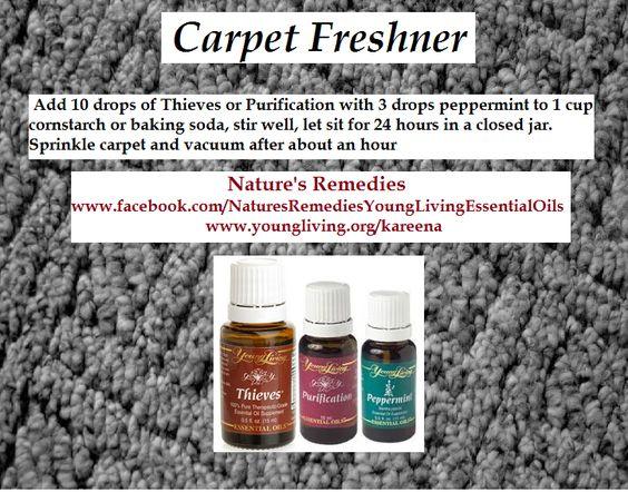 Homemade carpet fresh   Young Living Essential Oils