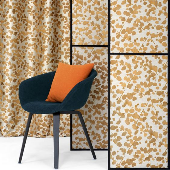 From the Lelievre Spring Collection, Gamine from the Shiso fabrics, also including Cuivre, Indigo, and Papyrus. #StarkFabric