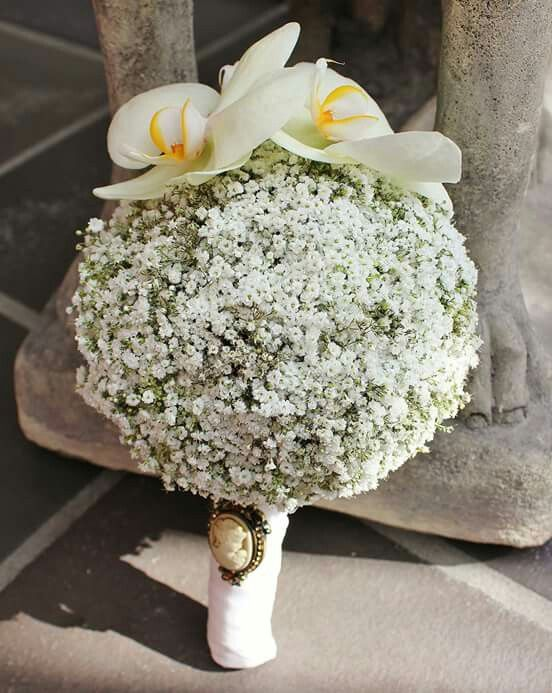 Schleierkraut mit Orchideen