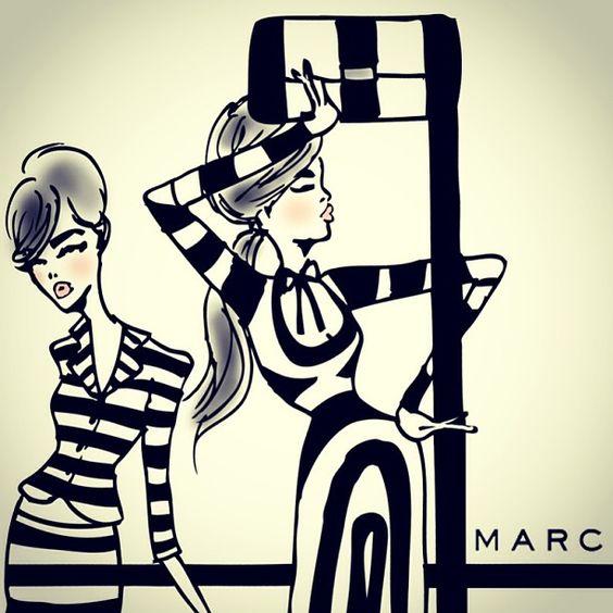 Marc Jacobs SS13 illustration.
