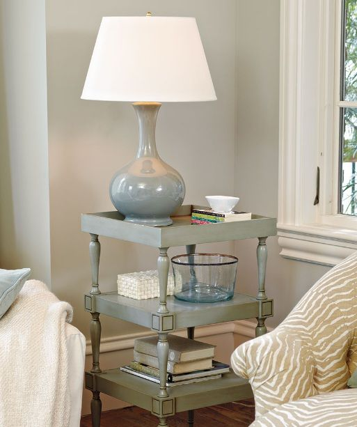 End Table Decorating Ideas With Ceramic Table Lamps Living Room Side Table Side Table Decor Living Room End Tables