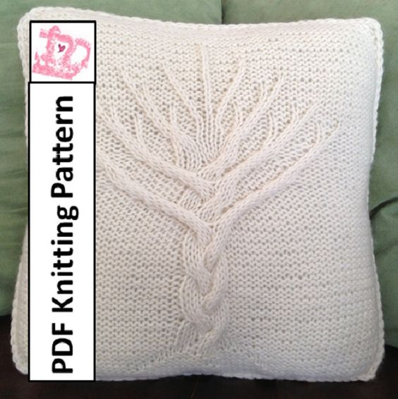 Hmmm. Not a bad price for patterns. Love this tree.   PDF KNITTING PATTERN -- Tree of Life hand knit 16x16 pillow cover