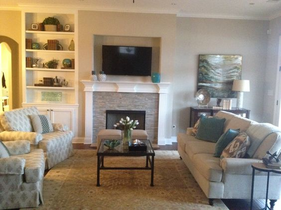 my mom 39 s living room cream and teal for the home pinterest teal cream and my mom. Black Bedroom Furniture Sets. Home Design Ideas