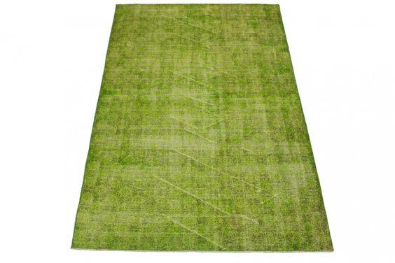 Vintage Teppich Grün in 260x170cm