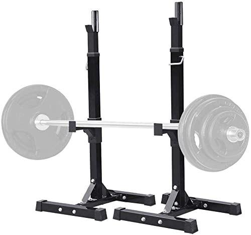 Amazing Offer On Yaheetech Pair Adjustable Squat Rack Standard 44