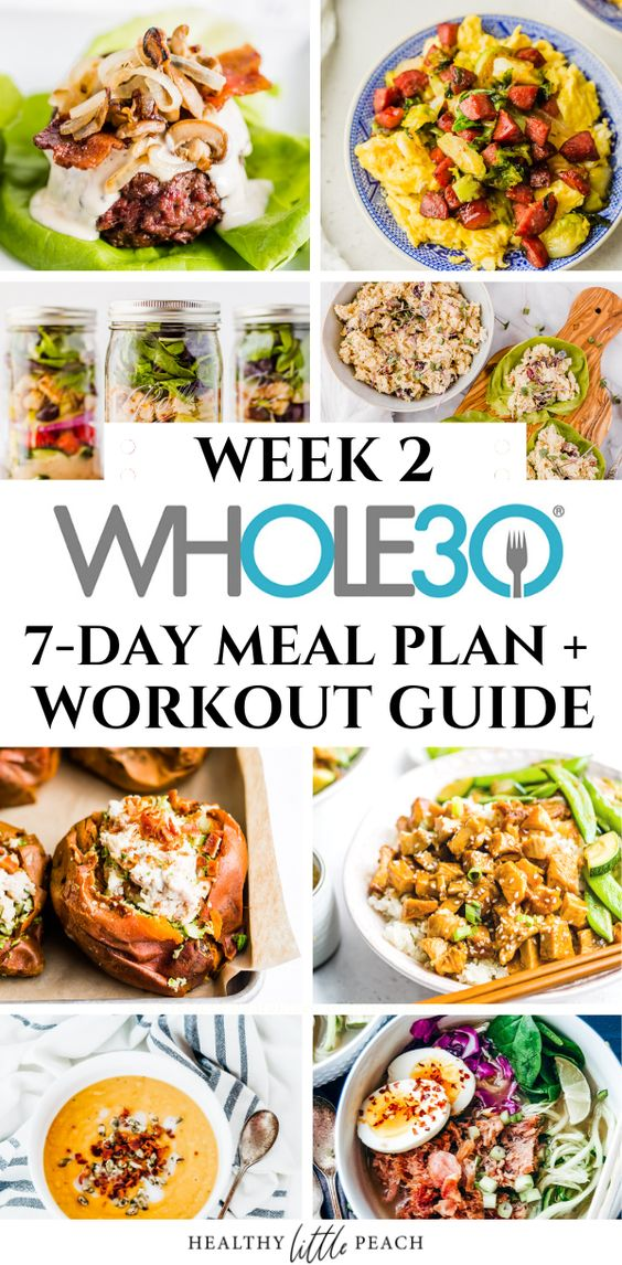 FREE Whole30 Meal Plan- Week 2