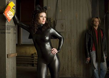 Black Latex Catsuit worn By Idina Menzel. Buy your Catsuit for dance from DCUK Dance Clothes.