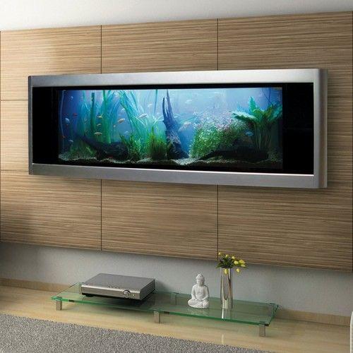 25 gallon rectangle wall freshwater tropical fish aquarium for Rectangle fish tank