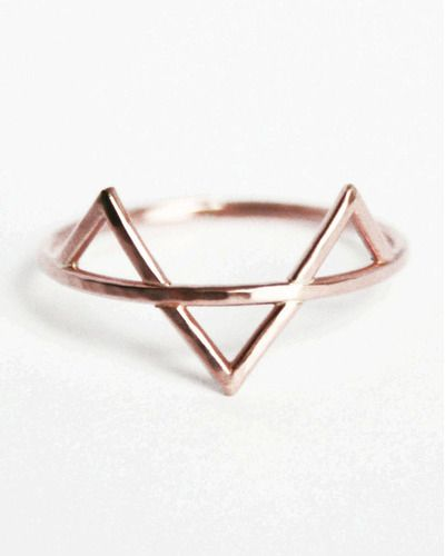 Rose Gold Filled Three Spikes Ring Minimalist Jewelry