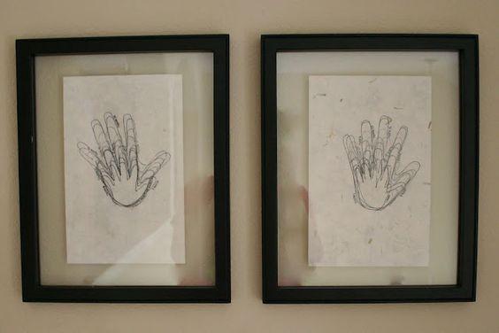 Trace handprints every year on birthdays... priceless
