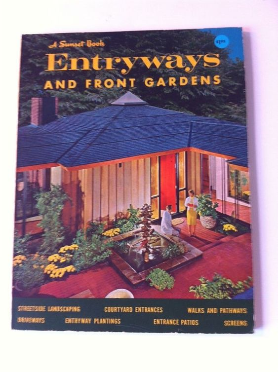 Ideas for Entryways and Front Gardens 1969 MID CENTURY by populuxe