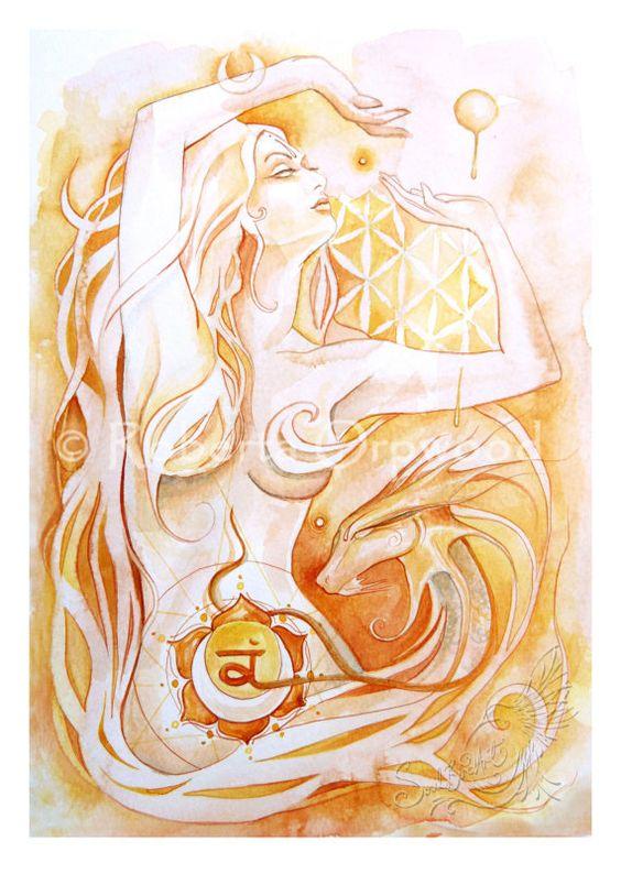 °Sacral Chakra Goddess 'Svadhisthana' by SoulBirdArt
