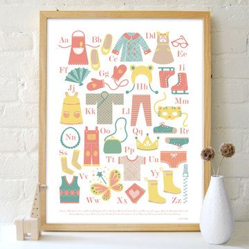Dress Up ABC Poster by Petit Collage $26.50