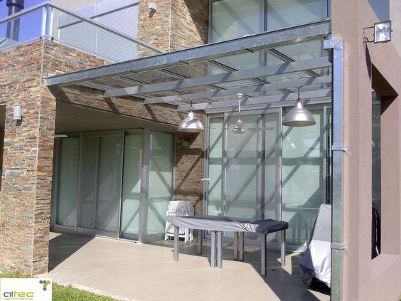 Techos de aluminio con vidrio buscar con google - Techos de vidrio para terrazas ...
