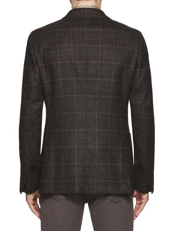 Veste à grands carreaux gris/vert FW16 9896786 | Zegna