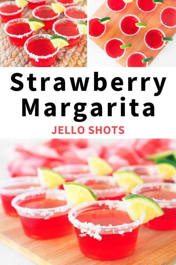 Strawberry Margarita Vegan Jello Shots Wow It S Veggie Recipe In 2020 Jello Shot Recipes Cocktail Recipes Easy Shot Recipes
