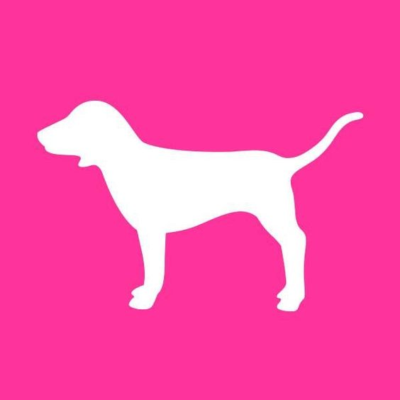 pink by victorias secret dog logo fashion passion