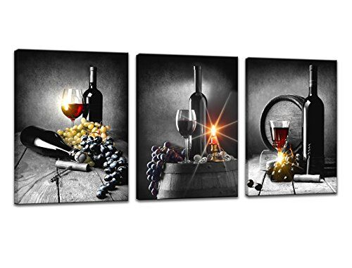 Tucai Decor Wall Decor Red Wine Cups Grape Wall Art For Kitchen Painting Print On Canvas Picture For Home Wine Wall Art Canvas Kitchen Wall Art Wine And Canvas