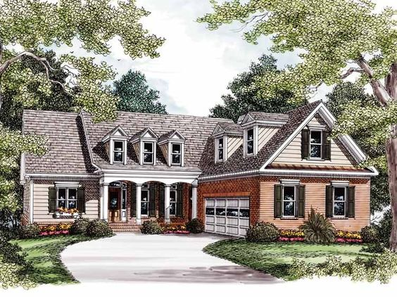 Country House Plan with 3025 Square Feet and 4 Bedrooms from Dream Home Source | House Plan Code DHSW32092