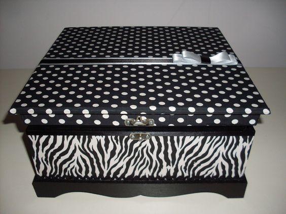 Porta-jóias de zebra e poá! Mais opções em: www.facebook.com/apanopatchcolagem ou www.elo7.com.br/apanopatchcolagem