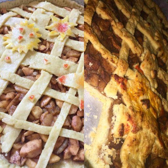 Apple Pie  #lifokitchen #foodporn #food #sweet #sexy #apples #applepie #pie #delicious #delish #colours #foodpornography #instafood #dreamy #amman #jordan #sugar