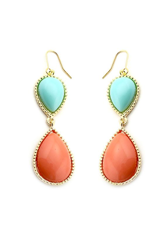 Cabochon Dangle Earrings  $22.00