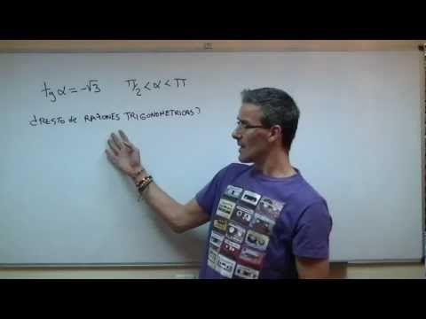 Razones trigonometricas vs TANGENTE SECUNDARIA (4ºESO) trigonometria - YouTube