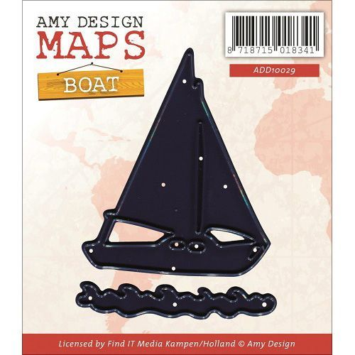 Find It Trading Amy Design Map Die-Boat