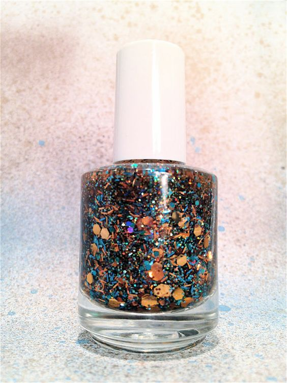 Paradise Cove   CustomBlended Glitter Nail Polish / by lushlacquer, $8.75