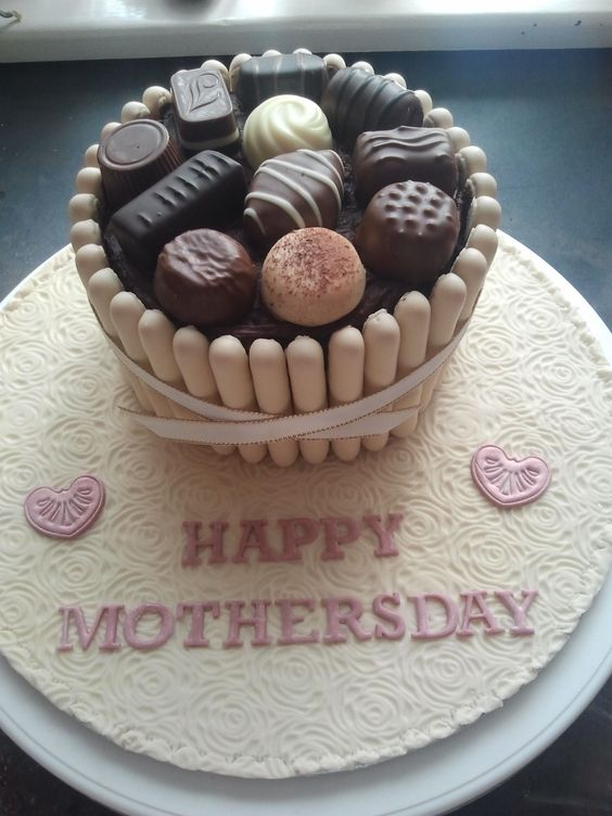 Mother's Day - Mother's day chocolate box cake.