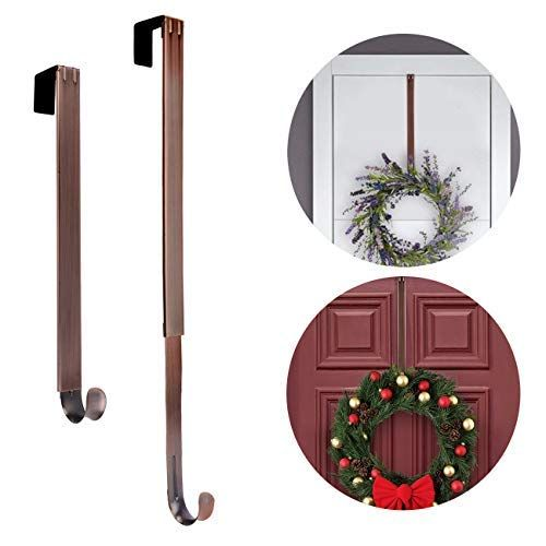 Christmas Wreaths Hanger Ancintre Wreath Hanger Adjustable Length From 15 To 25 Wreath Hanger For With Images Christmas Wreaths Wreath Hanger Christmas Decorations