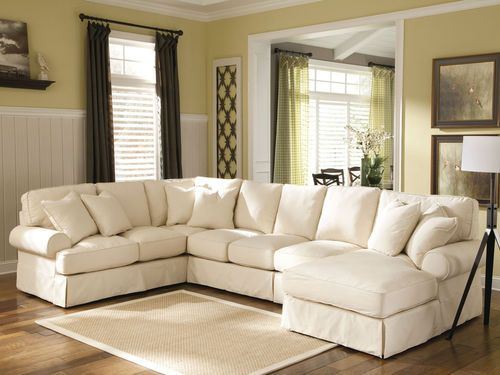 Alba 4pcs Oversize Cottage Fabric Living Room Sofa Couch Sectional Set Furniture Cottages