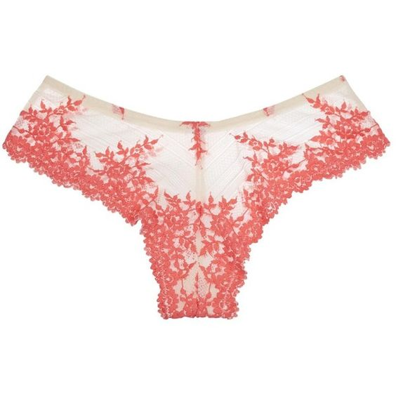 Womens Briefs Wacoal Embrace Embroidered Lace Briefs ($40) ❤ liked on Polyvore featuring intimates, panties and wacoal