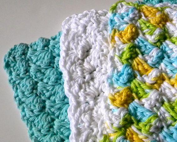 Crochet Pattern  Halada Washcloths by HaladaMade on Etsy