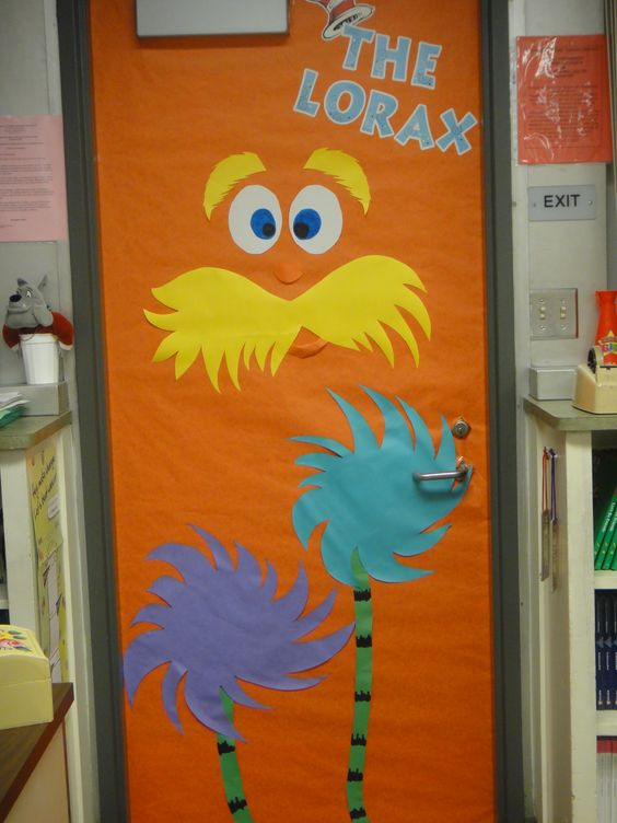 read across america week the lorax door decoration