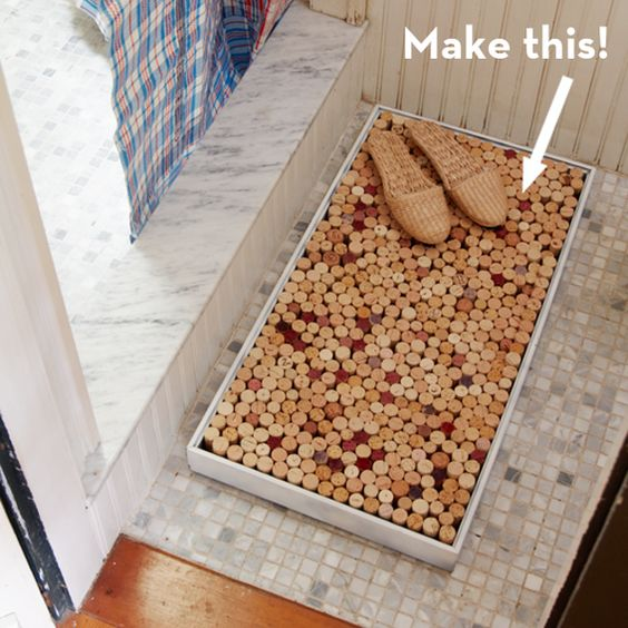 Make It: A Super Easy DIY Wine Cork Bath Mat