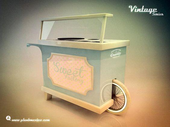 Carretas carritos vintages retro para dulces candy bar for Como hacer un bar de madera