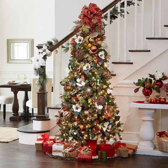 7 5ft Pre Lit Hartford Pine Artificial Christmas Tree Clear Lights By Ashland In 2020 Traditional Christmas Tree Christmas Tree Storage Artificial Christmas Tree