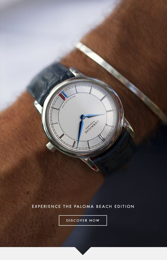 Our watches combine the feel of the Côte d'Azur with a sincere focus on materials and detail.