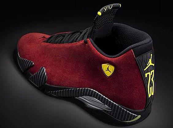 nike dunk low - Air Jordan 14 Retro 'Burgundy' Ferrari | Super cool men shoes ...